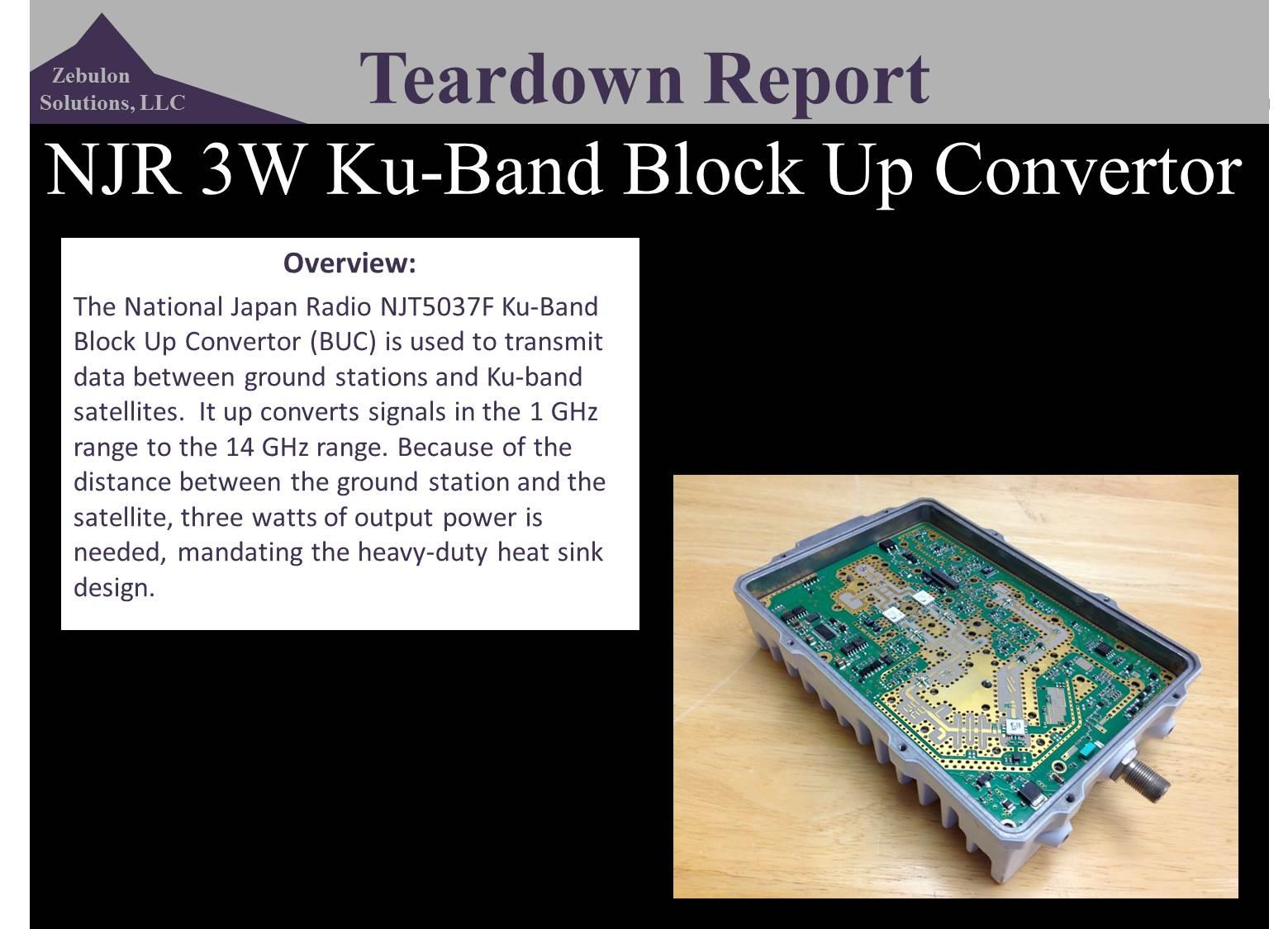 Teardown :  NJR 3 Ku-Band Block up Convertor