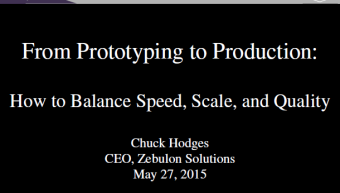 From Prototyping to Production: How to Balance Speed, Scale & Quality